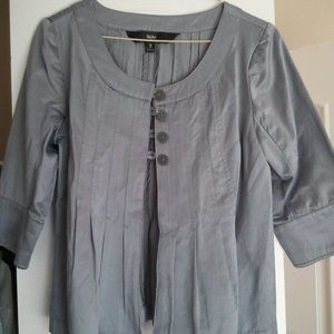 Mossimo Silver Jacket Topper Sz S NWOT